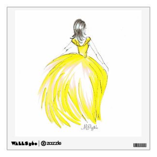 Gold Gown Wall Decal