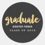 Gold Grad | Graduation Sticker Labels at Zazzle