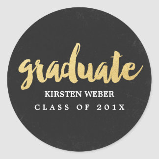 Gold Grad | Graduation Sticker Labels
