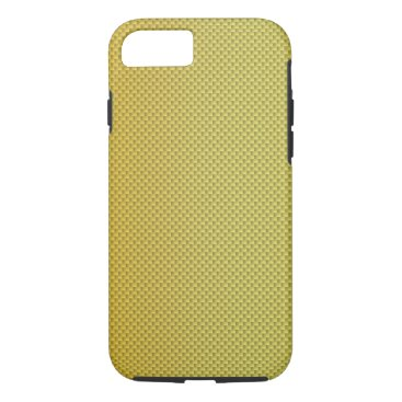 Beach Themed Gold Gradient Carbon Fiber Polymer iPhone 7 Case