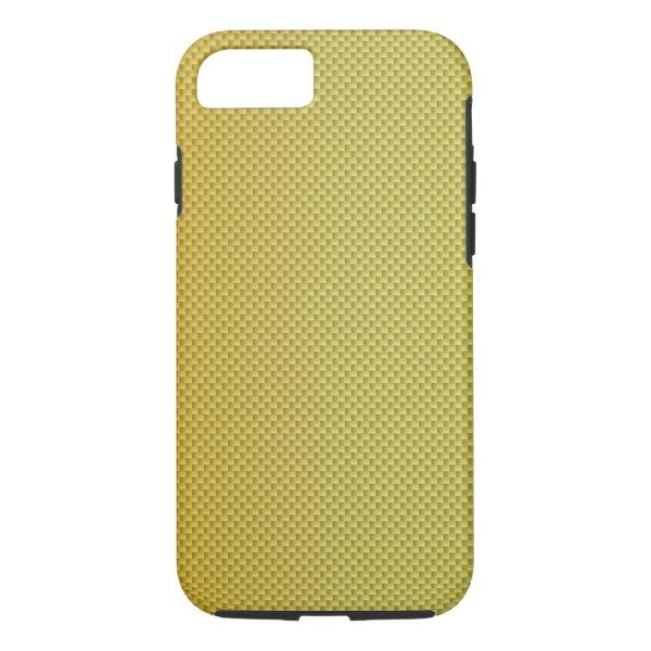 Gold Gradient Carbon Fiber Polymer iPhone 7 Case