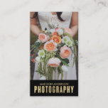 """Gold Gradient   Photography Business Cards<br><div class=""""desc"""">Photographs provided courtesy of &#169;Blush Photography    For more colors and styles visit our shop!</div>"""