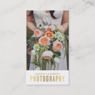 Gold Gradient   Photography Business Cards