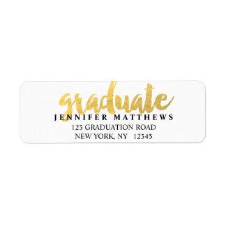 Gold Graduate | Graduation Address Label