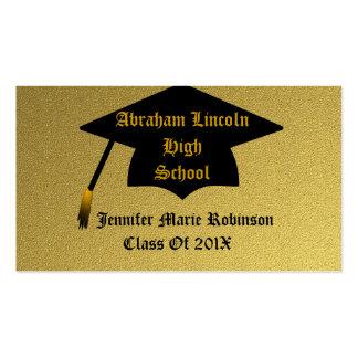 Gold Graduation Business Card