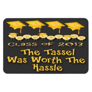 Gold Graduation Caps Flexible Magnets