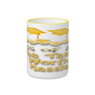 Gold Graduation Caps Mugs
