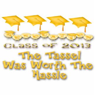 Gold Graduation Caps Photo Sculpture