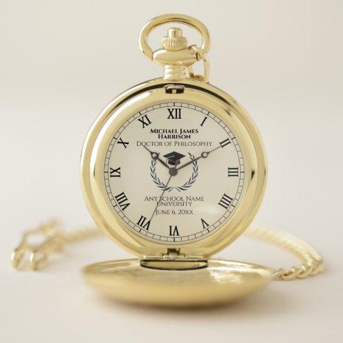 Gold Graduation Commemorative Pocket Watch