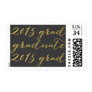 Gold Gray 2015 Graduation Stamps
