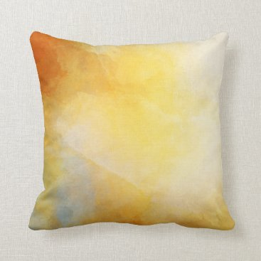 Beach Themed Gold & Gray Cloudy Decorative Accent Throw Pillow