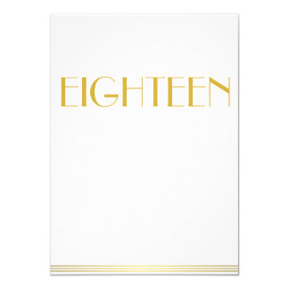 Gold Great Gatsby Wedding Table Cards Eighteen