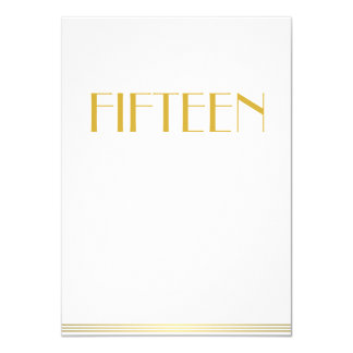 Gold Great Gatsby Wedding Table Cards Fifteen