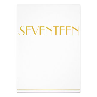 Gold Great Gatsby Wedding Table Cards Seventeen