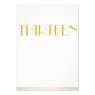 Gold Great Gatsby Wedding Table Cards Thirteen