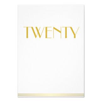Gold Great Gatsby Wedding Table Cards Twenty