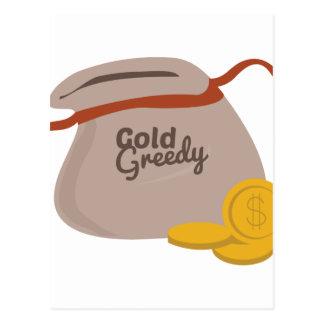 Gold Greedy Postcard