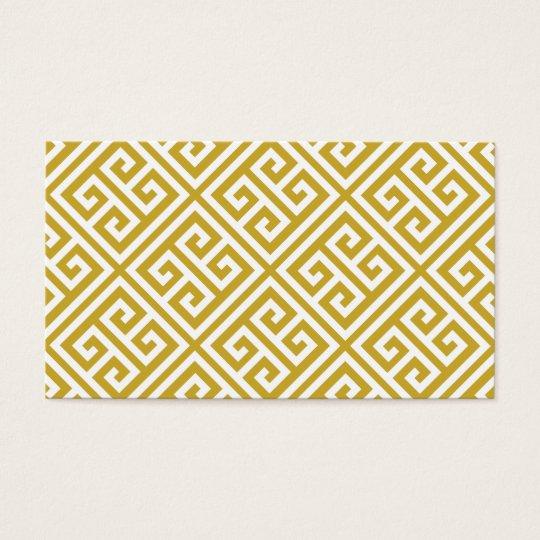 Gold Greek Key Blank Business Card Template Zazzle
