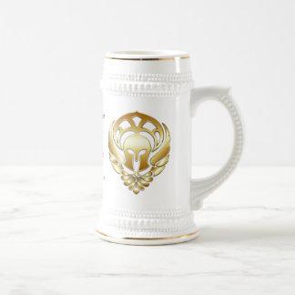 Gold Greek Warrior's Red Border Stein Coffee Mugs