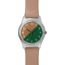 Gold Green and Brown Watch