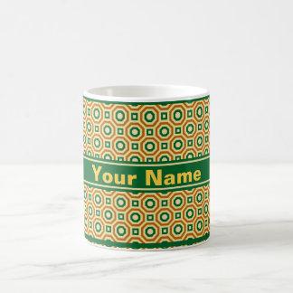 Gold/Green/Brown Nested Octagons Mug