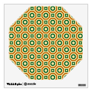 Gold/Green/Brown Nested Octagons Wall Decal