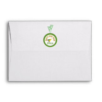 Gold Green New Year's 2015 Envelope