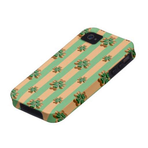 Gold Green Shamrocks Ireland iPhone 4/4S Tough Vibe iPhone 4 Case