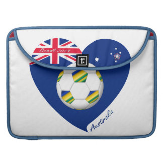 "Gold & Green Soccer Team. Fútbol de ""AUSTRALIA"" Fundas Para Macbook Pro"