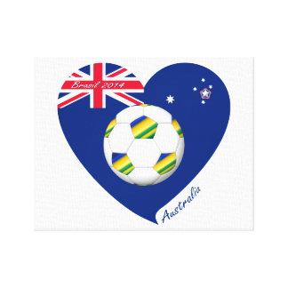 """Gold & Green Soccer Team. Fútbol de """"AUSTRALIA"""" Impresión En Lona"""