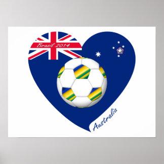 "Gold & Green Soccer Team. Fútbol de ""AUSTRALIA"" Posters"