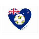 "Gold & Green Soccer Team. Fútbol de ""AUSTRALIA"" Postales"