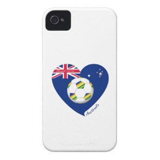 """Gold & Green Soccer Team. Soccer of """"AUSTRALIA """" iPhone 4 Case"""