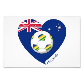 "Gold & Green Soccer Team. Soccer of ""AUSTRALIA "" Photographic Print"