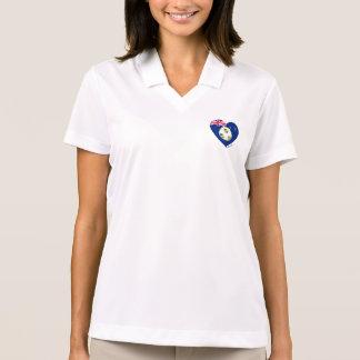 """Gold & Green Soccer Team. Soccer of """"AUSTRALIA """" Polo Shirt"""