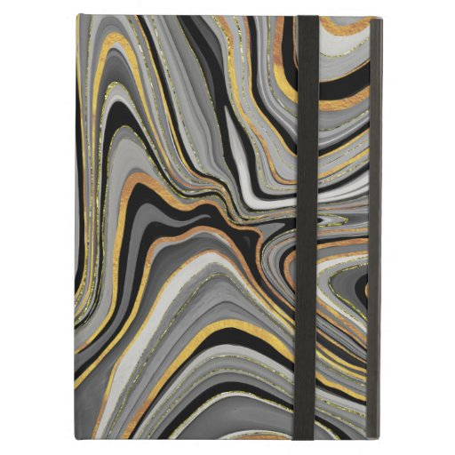 gold grey sensual swirls design case for iPad air