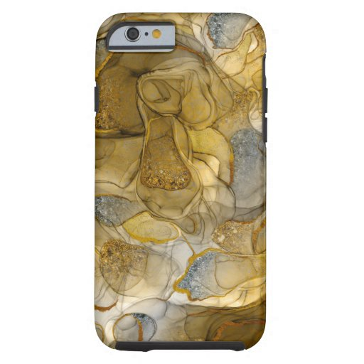 Gold grey sparkle dreams iPhone case