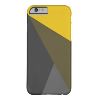 Gold Grey Triangles iPhone 6 Case, Barely There