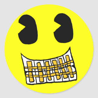 Gold Grill Smiley Sticker