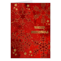 gold, golden, grunge, pop, urban, xmas, christmas, snowflakes, stars, winter, december, holidays, joy, Card with custom graphic design