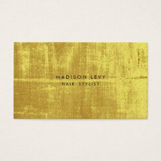 Gold Grunge Hair Salon Stylist Appointment Cards