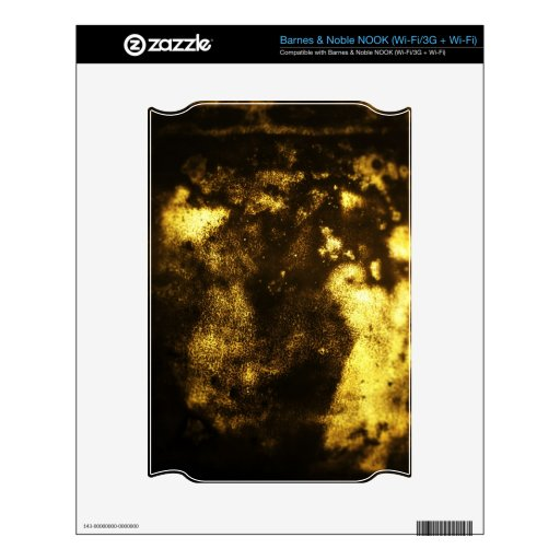 Gold Grunge Texture Skin For The NOOK