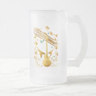 Gold Guitar Party Mug