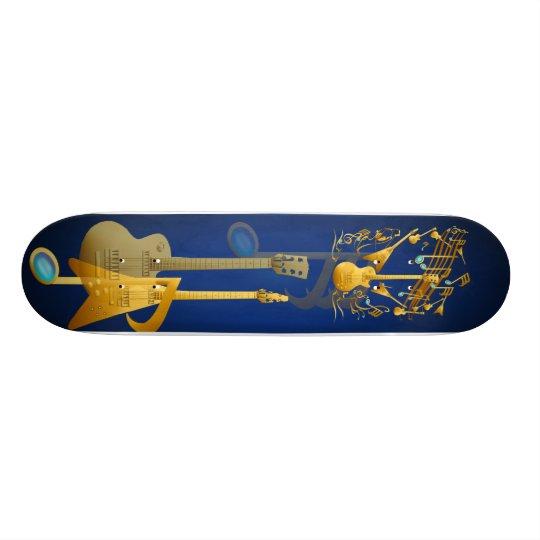 Gold Guitar Party Skateboard