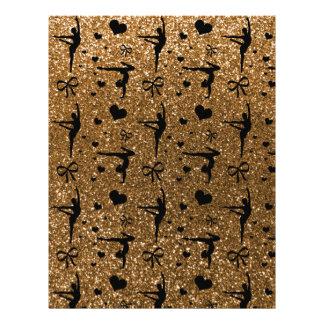 Gold gymnastics glitter pattern full color flyer