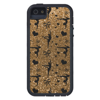 Gold gymnastics glitter pattern iPhone 5 cases