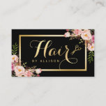 """Gold Hair Stylist Scissors Trendy Girly Floral Business Card<br><div class=""""desc"""">================= ABOUT THIS DESIGN ================= Gold Hair Stylist Scissors Trendy Girly Floral Business Card Template. (1) For further customization,  please click the &quot;Customize it&quot; button and use our design tool to modify this template.  (2) If you need other script or matching items,  please contact me.</div>"""