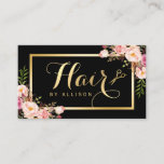 """Gold Hair Stylist Scissors Trendy Girly Floral Business Card<br><div class=""""desc"""">Gold Hair Stylist Scissors Trendy Girly Floral Business Card Template. (1) For further customization,  please click the &quot;customize further&quot; link and use our design tool to modify this template.  (2) If you need help or matching items,  please contact me.</div>"""