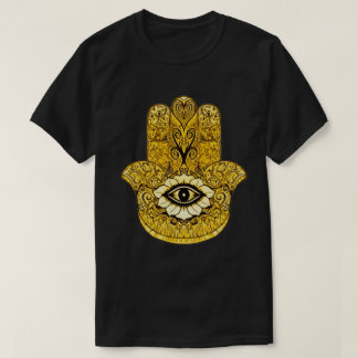 Gold Hamsa Symbol Indie Art Graphic Tee