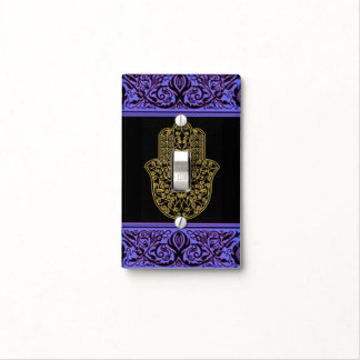 gold hand hamsa henna frame Light Switch Cover